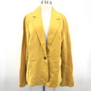 Sherry Taylor Mustard Casual Blazer 1X New Flawed